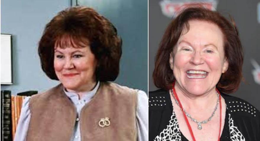 Imagem mostra a Atriz de Edie McClurg antes e atualmente