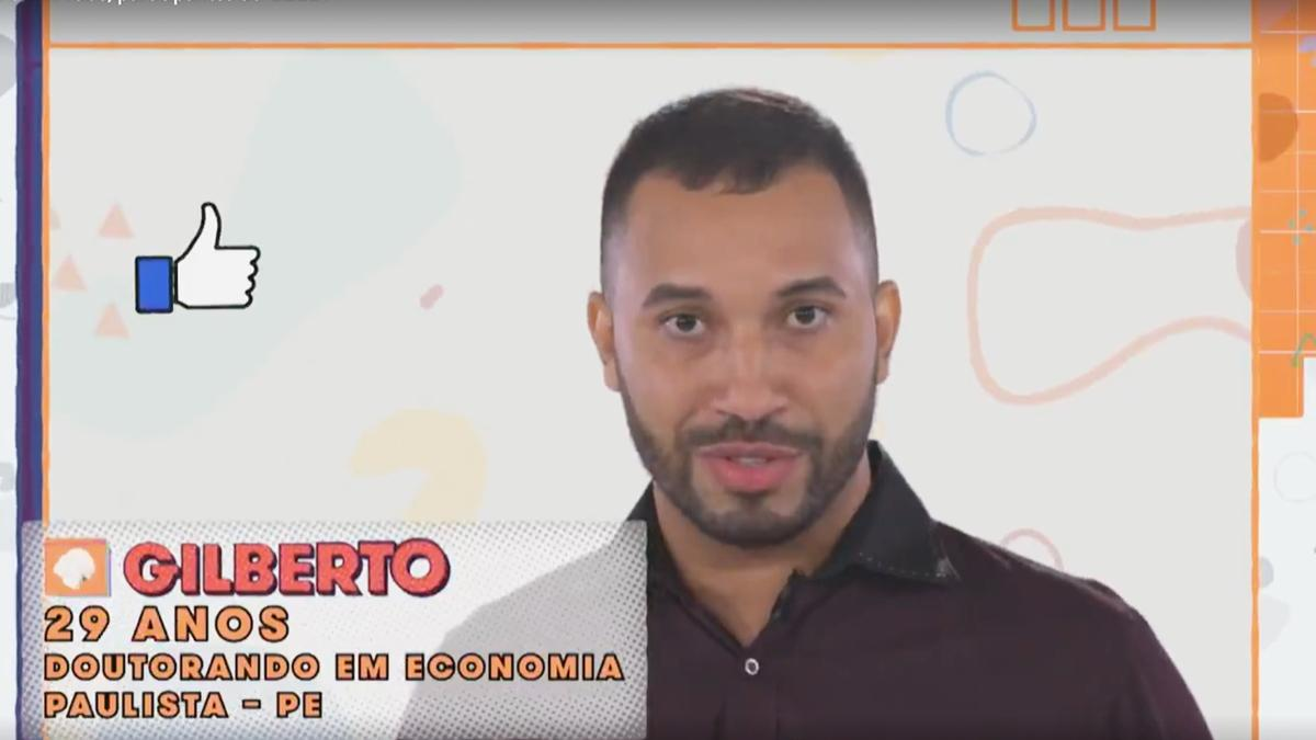 Na imagem Gilberto do BBB21