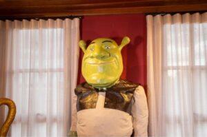Imagem de cera de Shrek