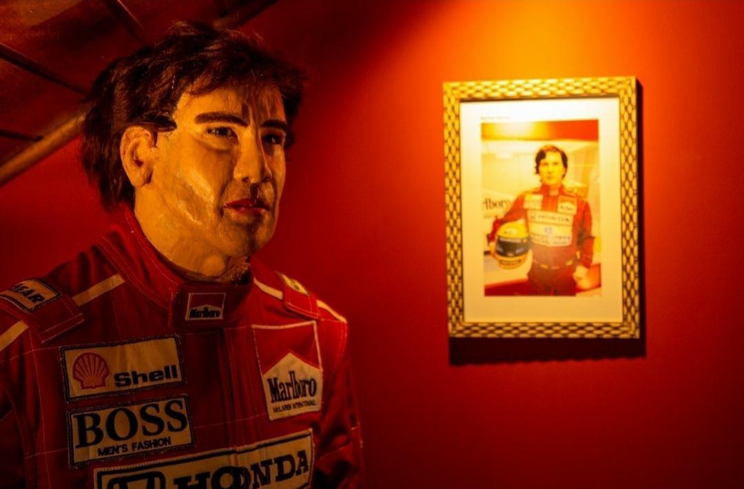 Imagem de Ayrton Senna criada pelo artista Arlindo Armacollo