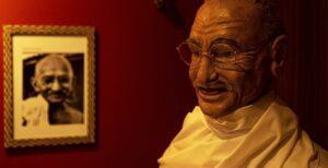 Imagem de cera de Mahatma Gandhi