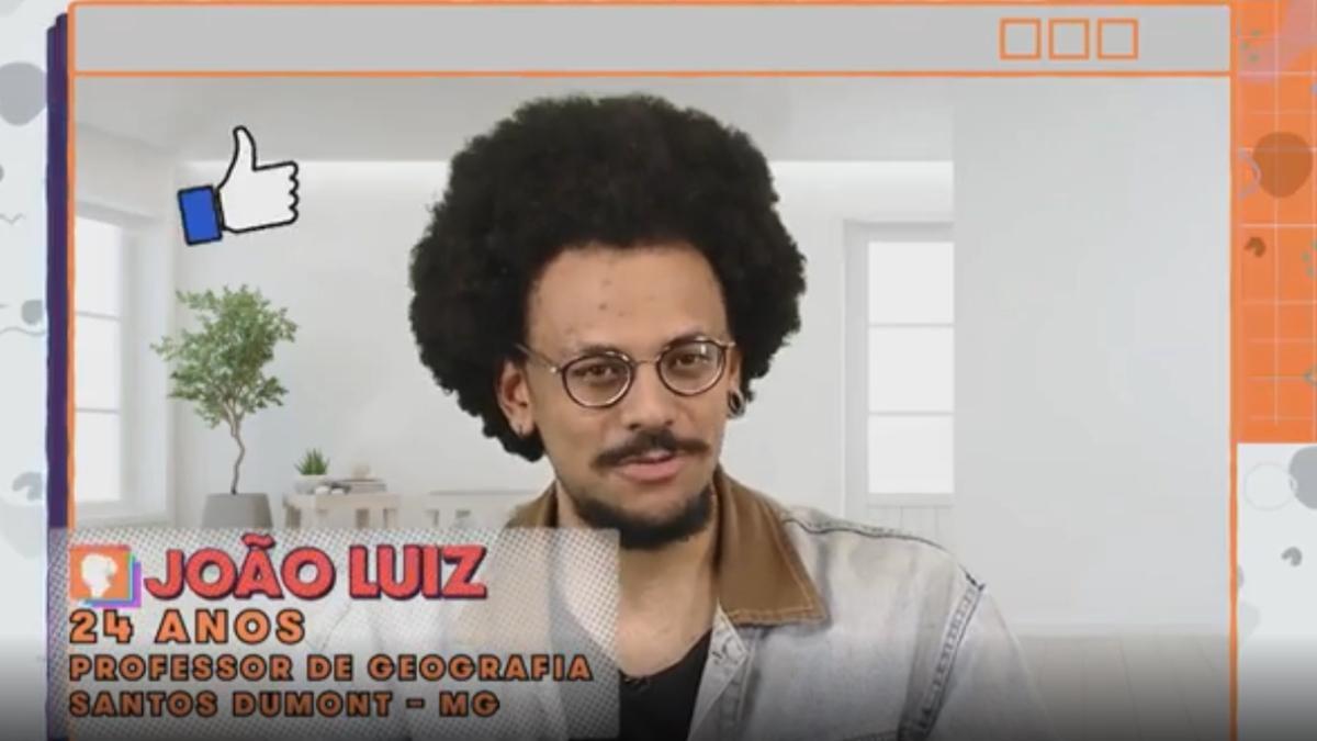 Imagem mostra João Luiz no BBB 21