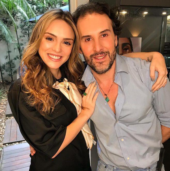 Marcos Proença e atriz Isabelle Drummond