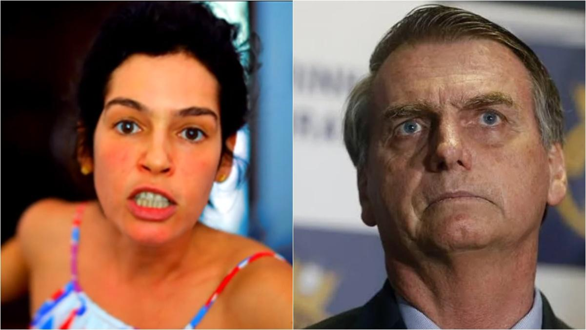 Maria Flor e Jair Bolsonaro