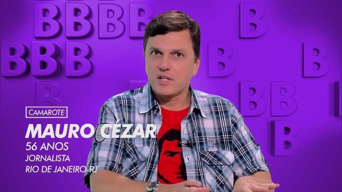 Na imagem o comentarista esportivo Mauro Cezar