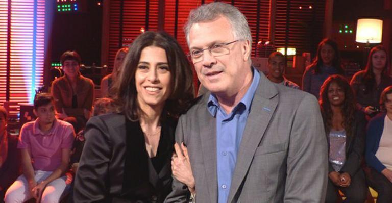 Imagem mostra Pedro Bial e Fernanda Torres