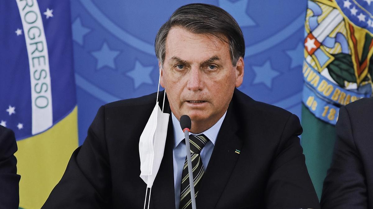 Imagem mostra o Presidente Jair Bolsonaro