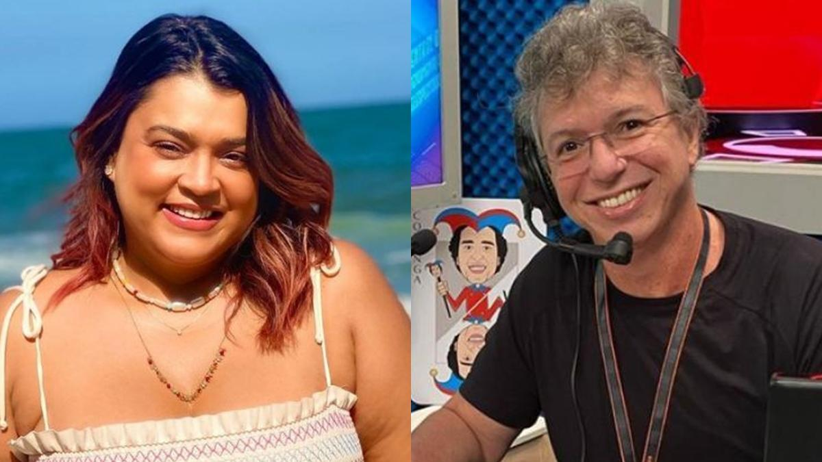 Imagem mostra a cantora Preta Gil e o diretor Boninho