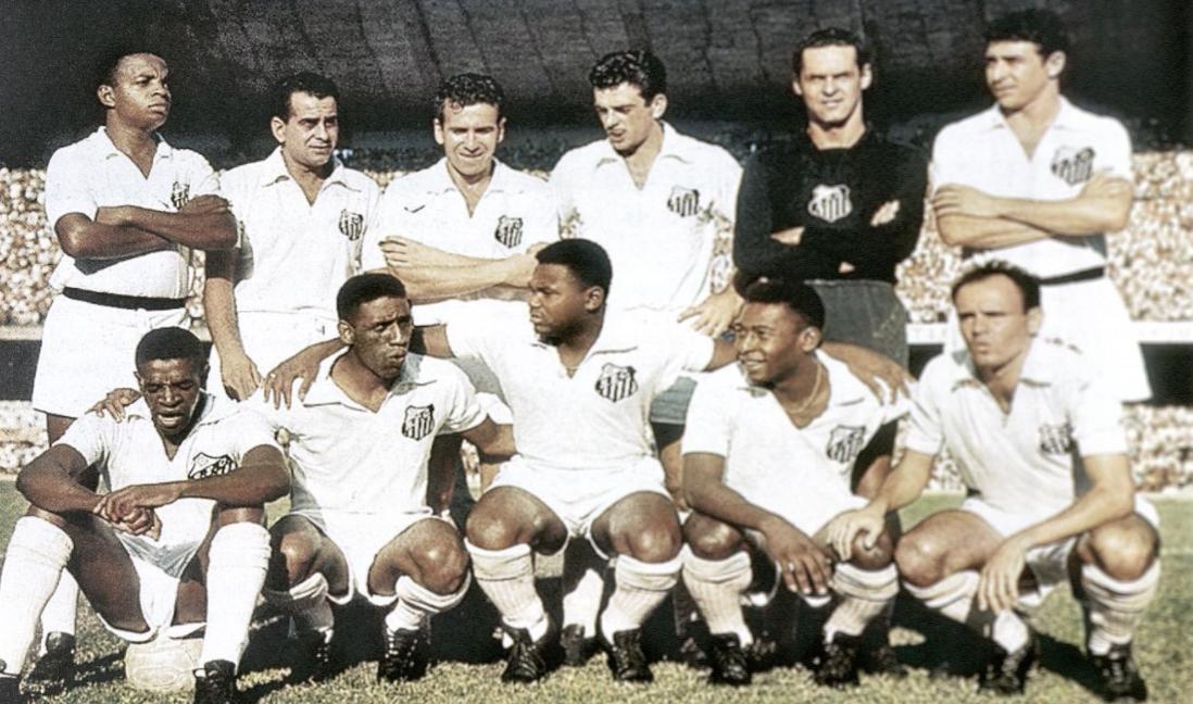 Equipe do Santos em 1962, primeiro brasileirão campeão da Libertadores