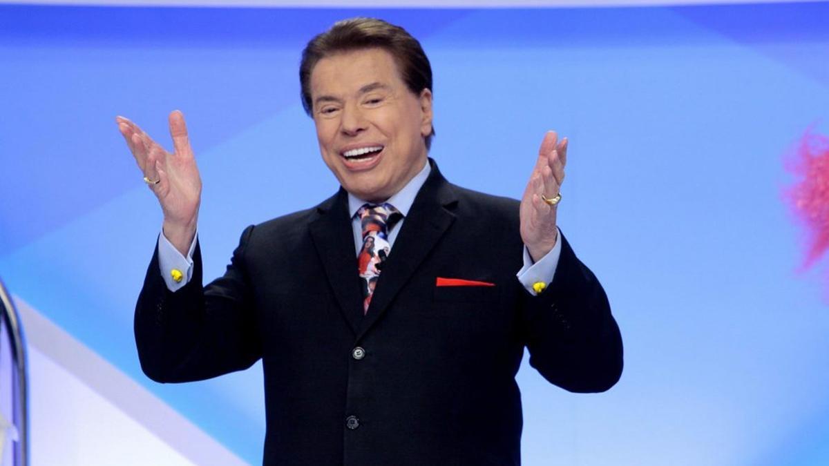 Na imagem o apresentador Silvio Santos