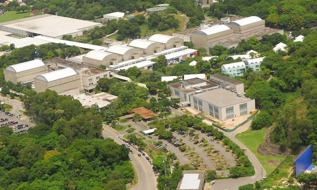 Imagem vista aerea do Projac
