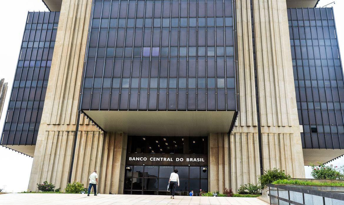 Foto de fachada do Banco Central do Brasil.