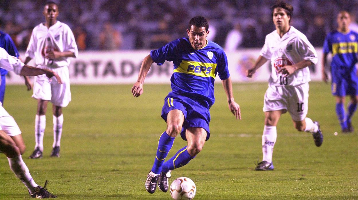 Santos e Boca Juniors na final da Libertadores de 2003