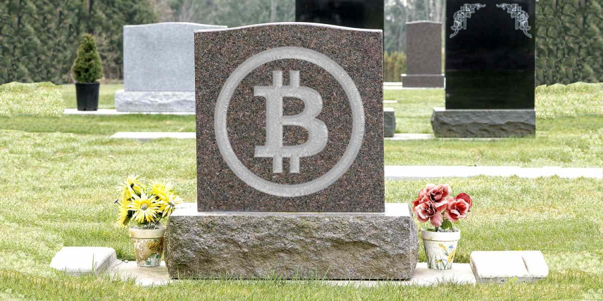 Morte do Bitcoin? Foto de cemitério após Banco Central Europeu pedir regulação