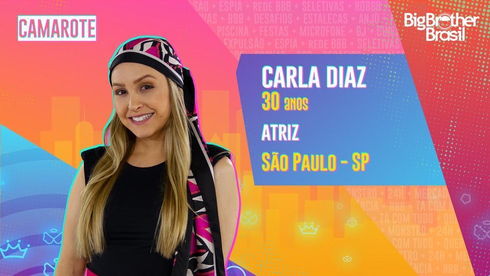 Na imagem a atriz Carla Diaz