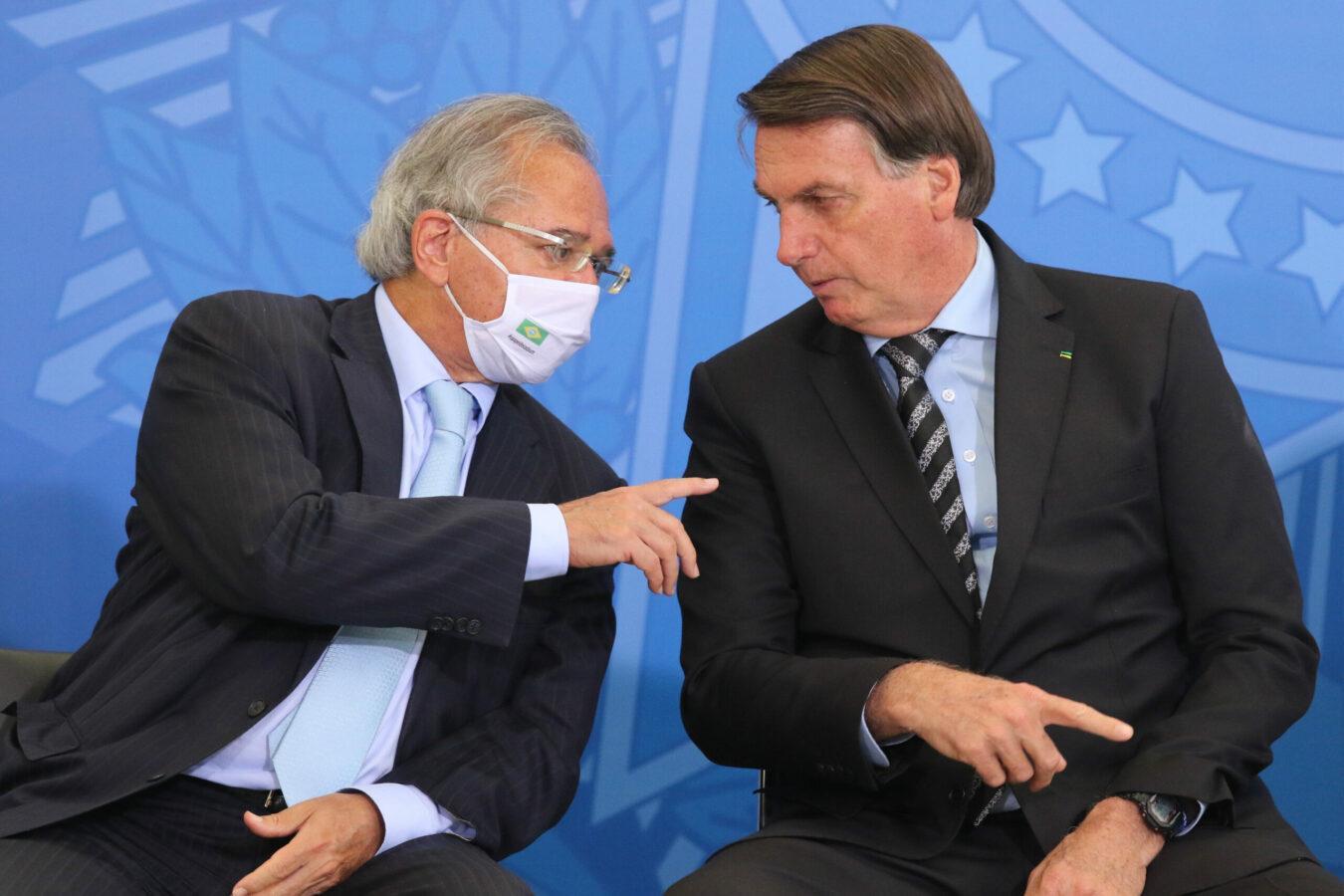 Paulo Guedes e Jair Bolsonaro.