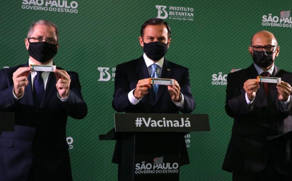 Coronavac João Doria