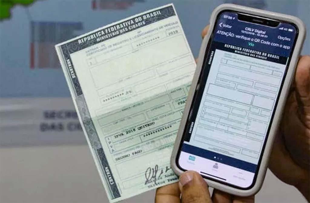 CRV Digital, novo documento para licenciamento de veículos
