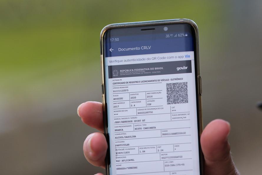 CRV Digital em aplicativo de celular