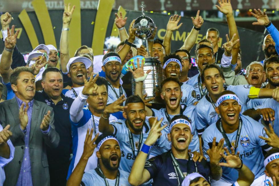 Grêmio também está entre os maiores campeões brasileiro da Libertadores