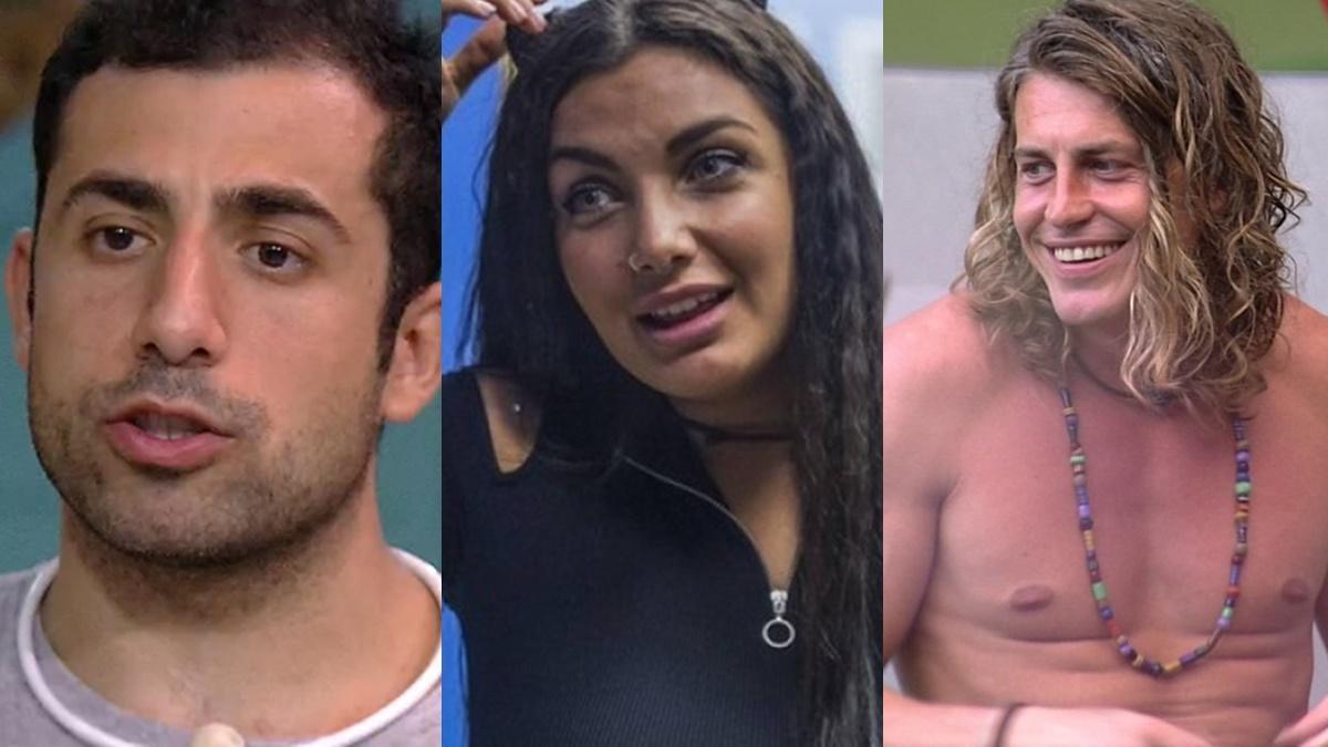 Kaysar Dadour, Elettra Lamborghini e Alberto Mezzetti - Gringos que participaram do BBB