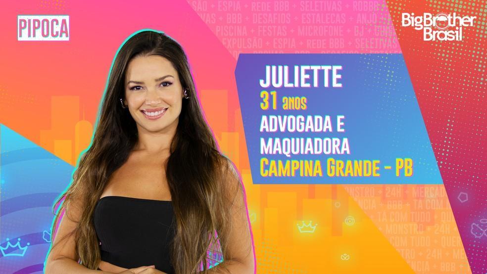 Na foto Juliette do BBB21