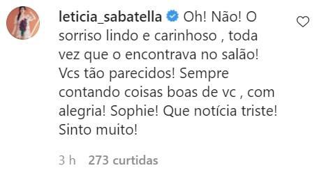 Comentário de Letícia Sabatella