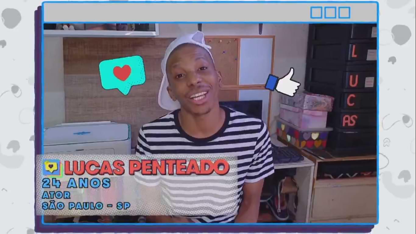 Lucas Penteado em vídeo de anúncio no BBB 21
