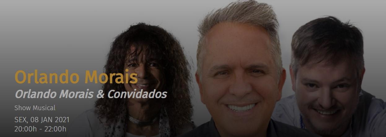Imagem mostra cartaz de live de Orlando Morais
