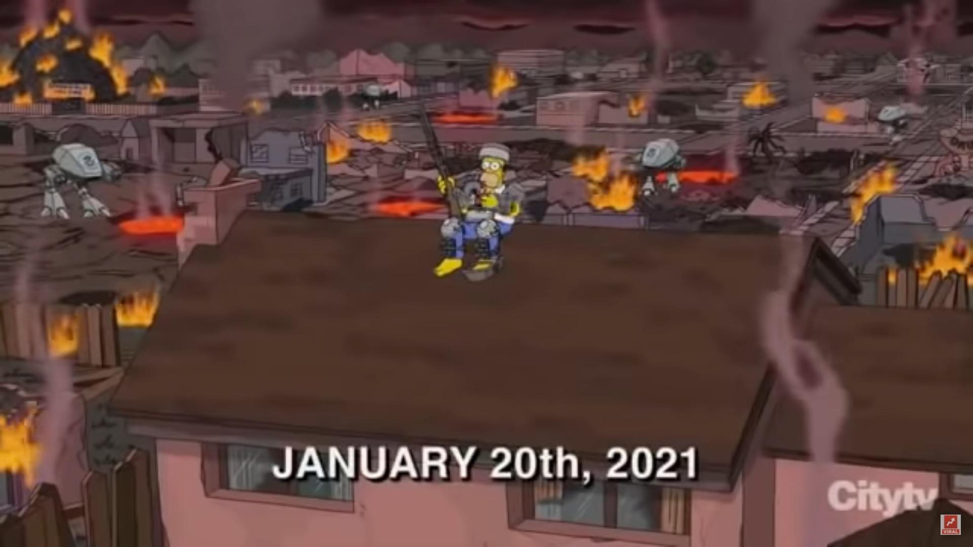 Imagem do episódio de Os Simpsions e simpsons previsões