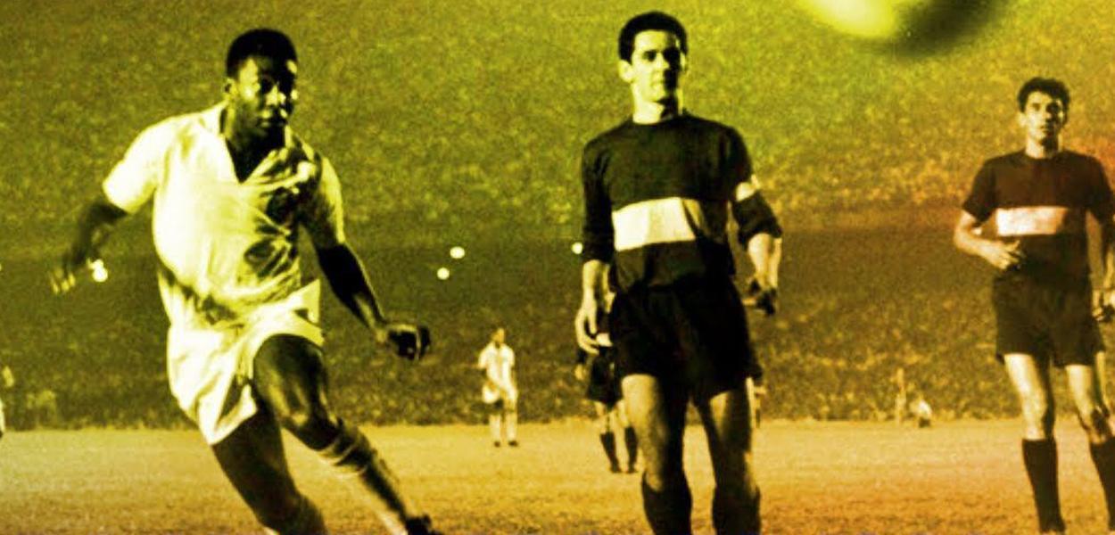 Santos e Boca Juniors na final da Libertadores de 1963