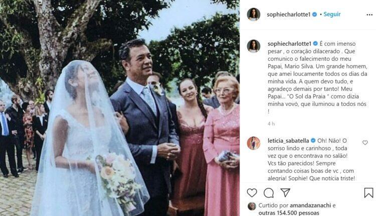 Post sobre pai de Sophie Charlotte