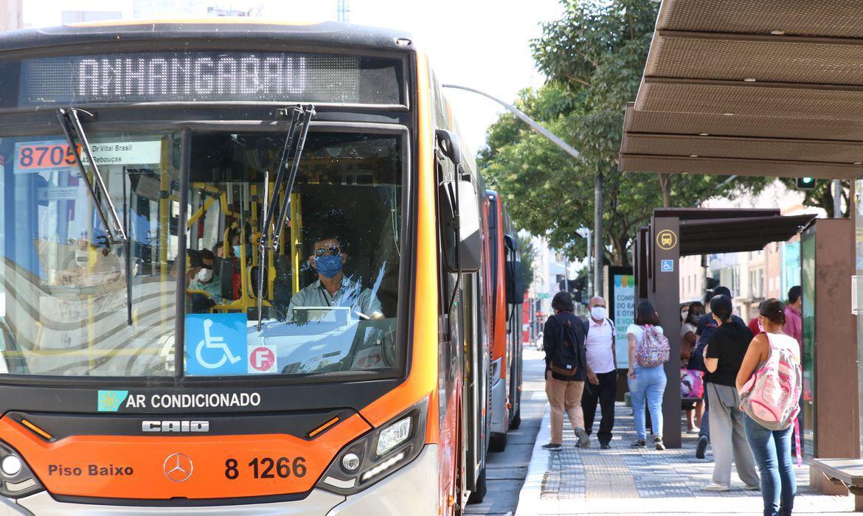 Ônibus em São Paulo.