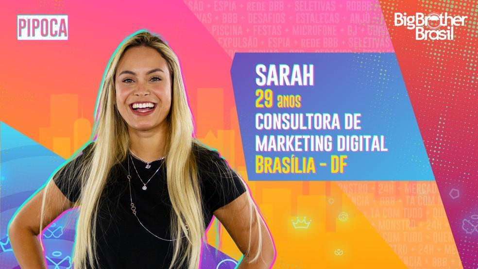 Imagem mostra Sarah no BBB21