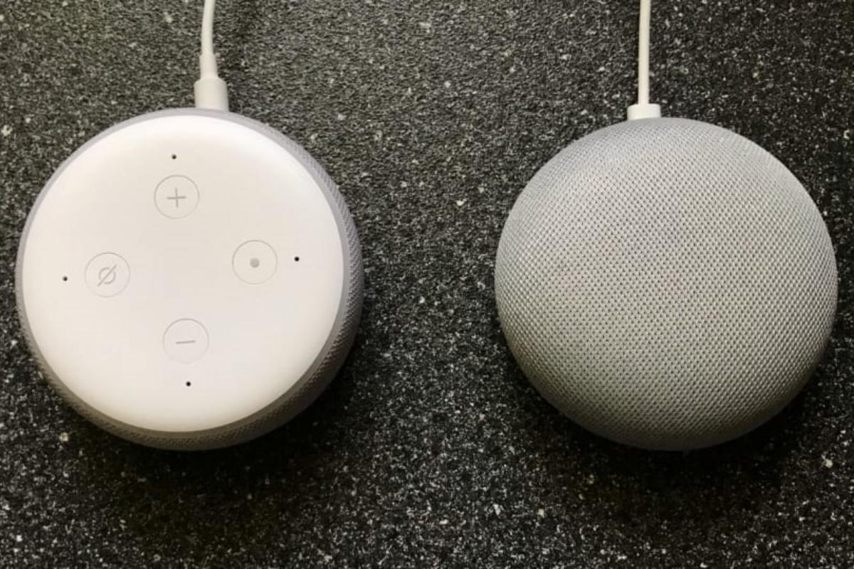 Echo Dot e Nest Mini