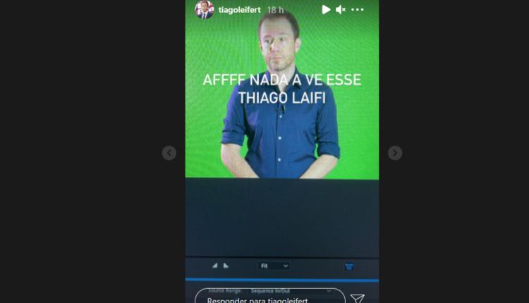 Tiago Leifert no Instagram