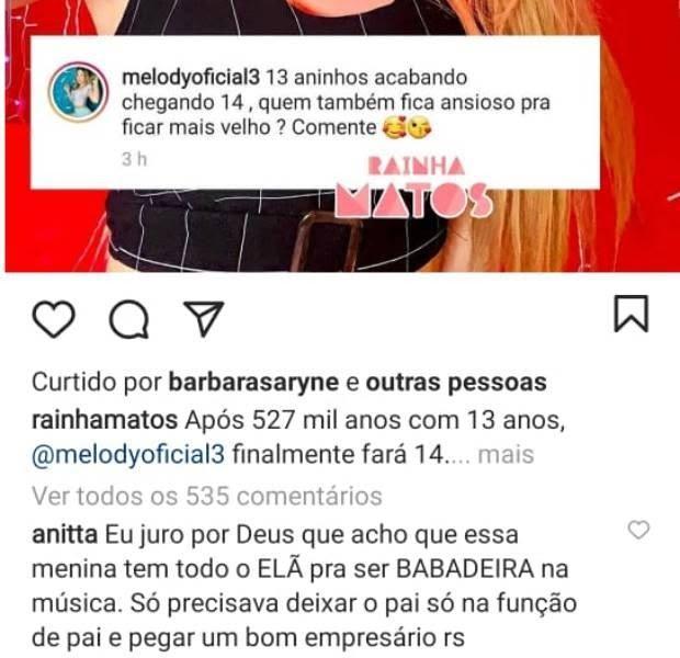 Imagem do comentário de Anitta