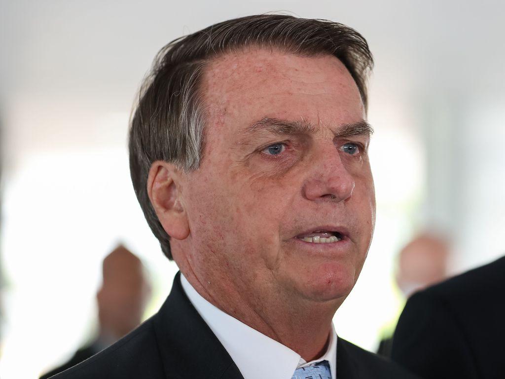 Imagem do Jair Bolsonaro durante abertura do Congresso Nacional