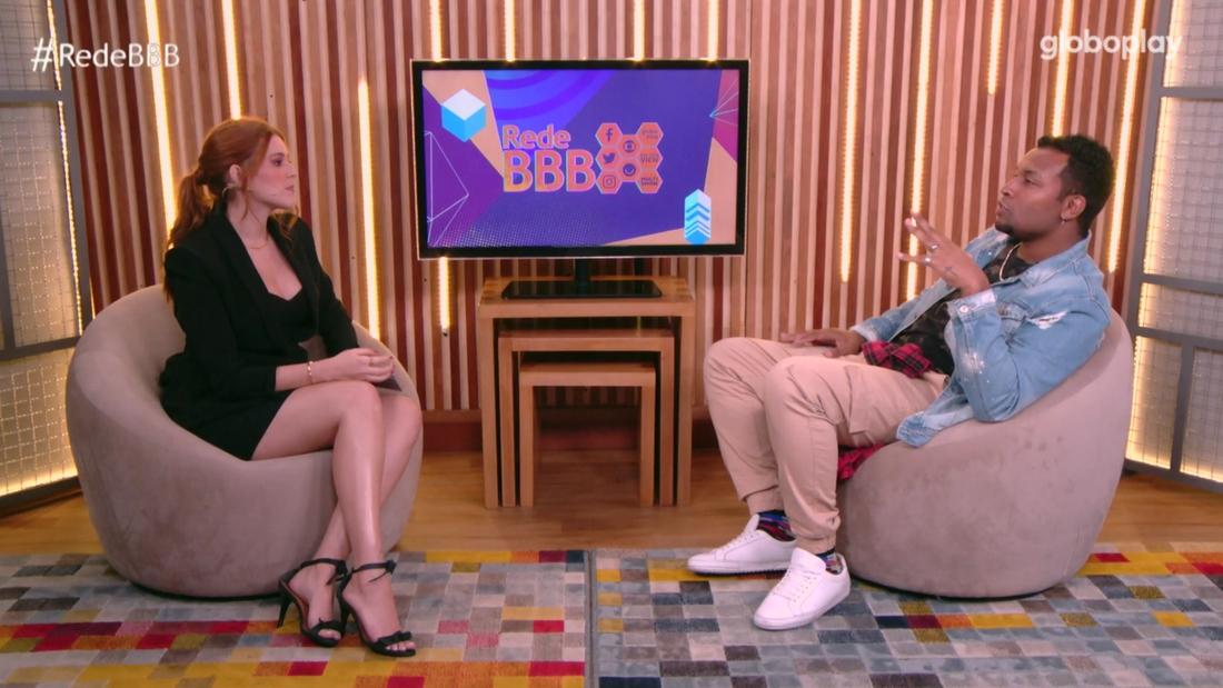 Na imagem Ana Clara e Nego Di no Bate-Papo BBB21
