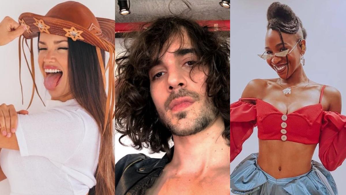 Imagem mostra Juliette, Fiuk e Karol Conka - seguidores no Instagram