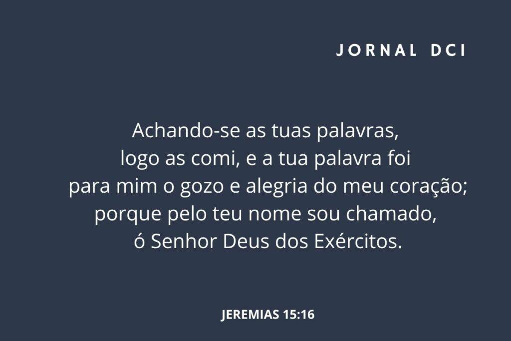 Versículo do dia de hoje
