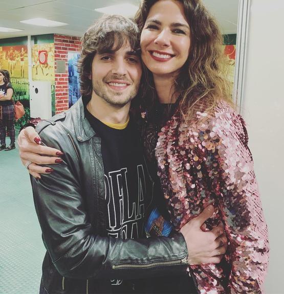 Na imagem Fiuk e Lucina Gimenez