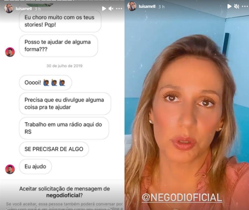 Na imagem Luisa Mell fala sobre Nego Di do BBB 21