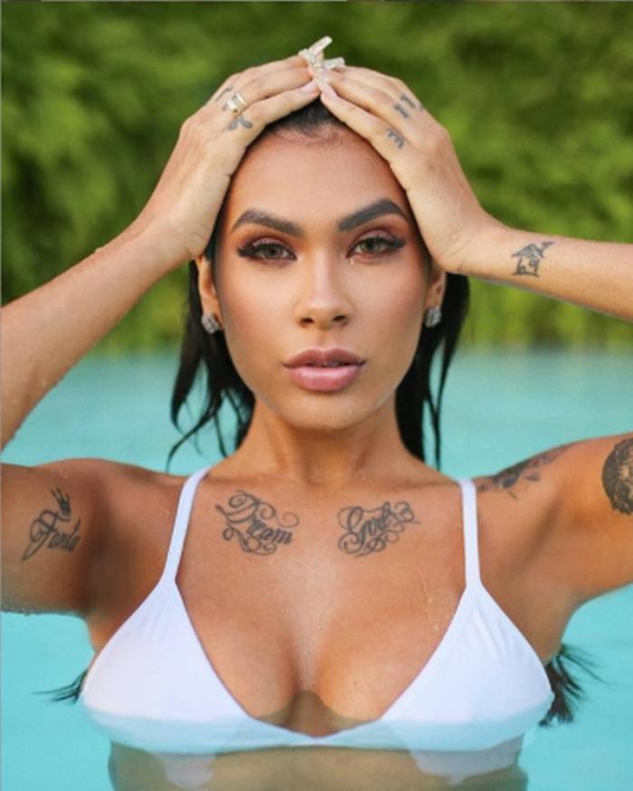 Imagem mostra Pocah do BBB21 - Tatuagem