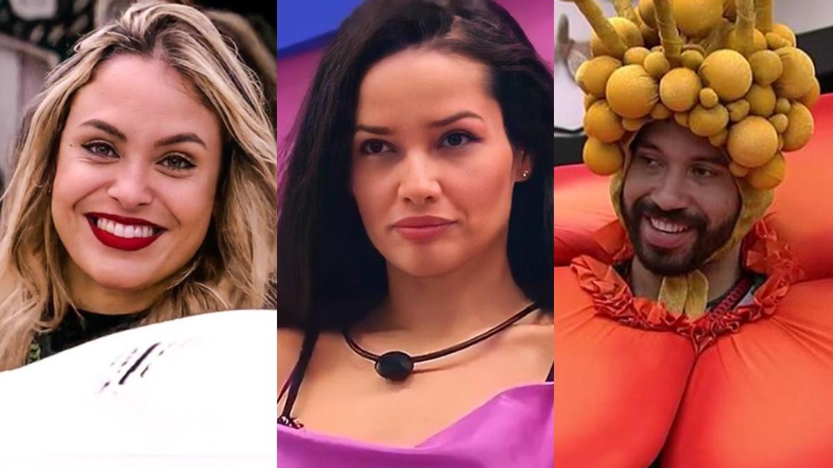 Imagem mostra Sarah, Juliette, Gilberto - seguidores dos participantes do Big Brother - Enquete BBB 21