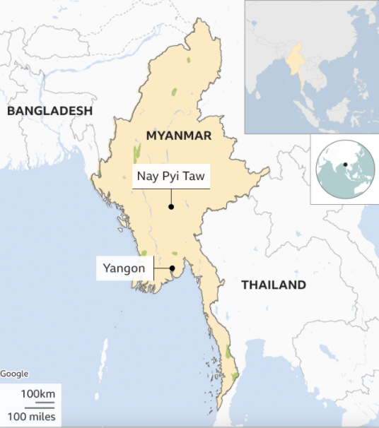 onde fica Mianmar