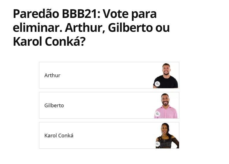 Como votar no BBB21