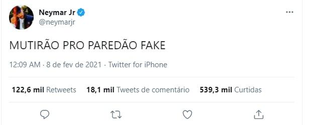 Neymar sobre paredão falso no bbb