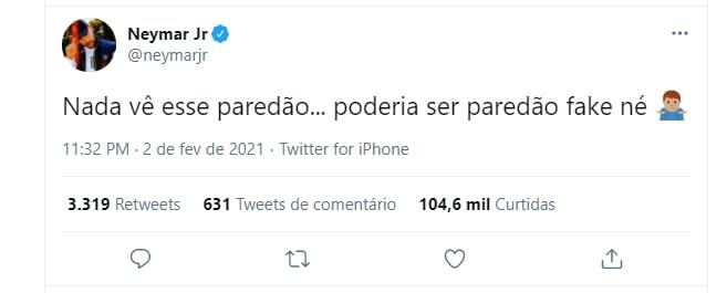 Tweet de Neymar