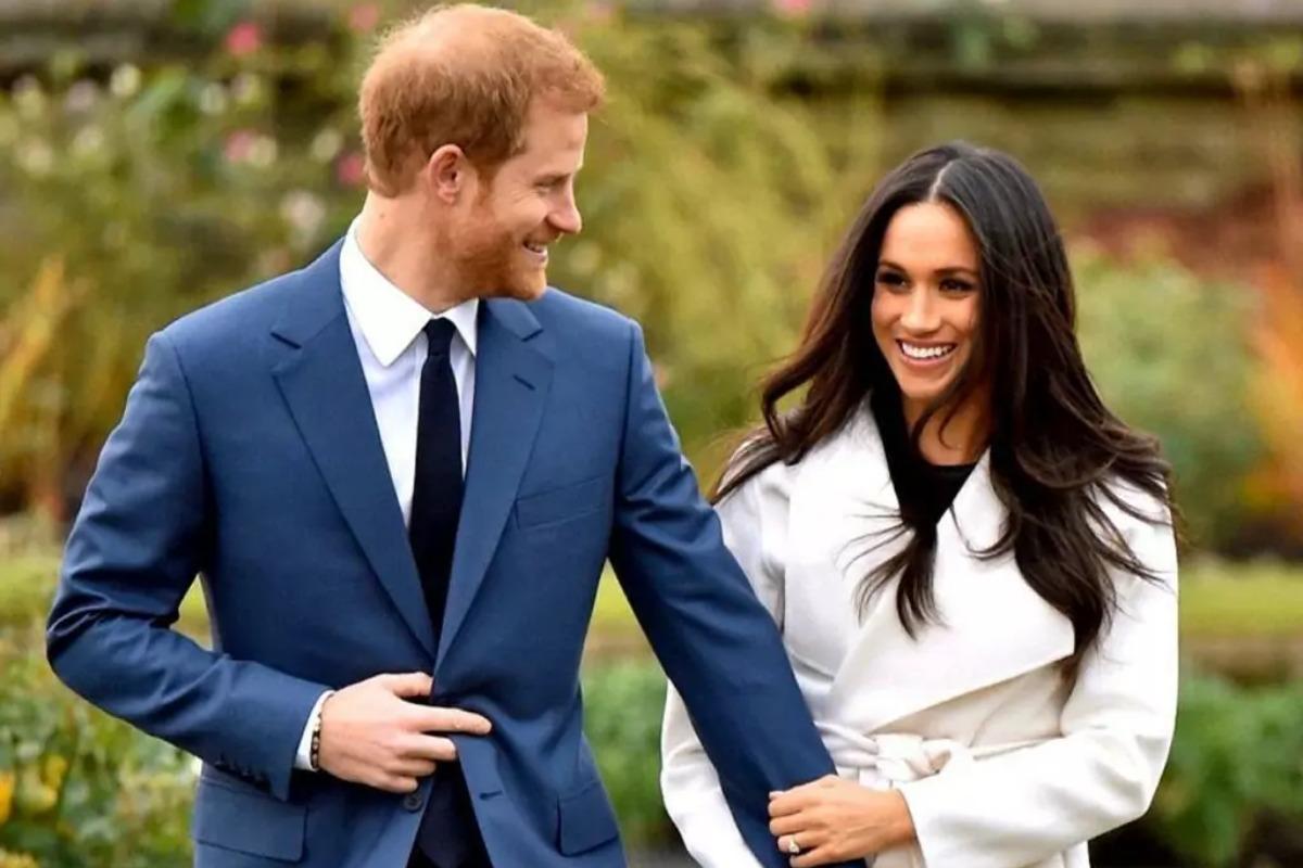 Imagem mostra Meghan Markle e príncipe Harry, agora ex-integrantes da família real